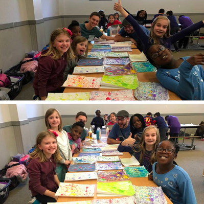 kids coloring at after school program
